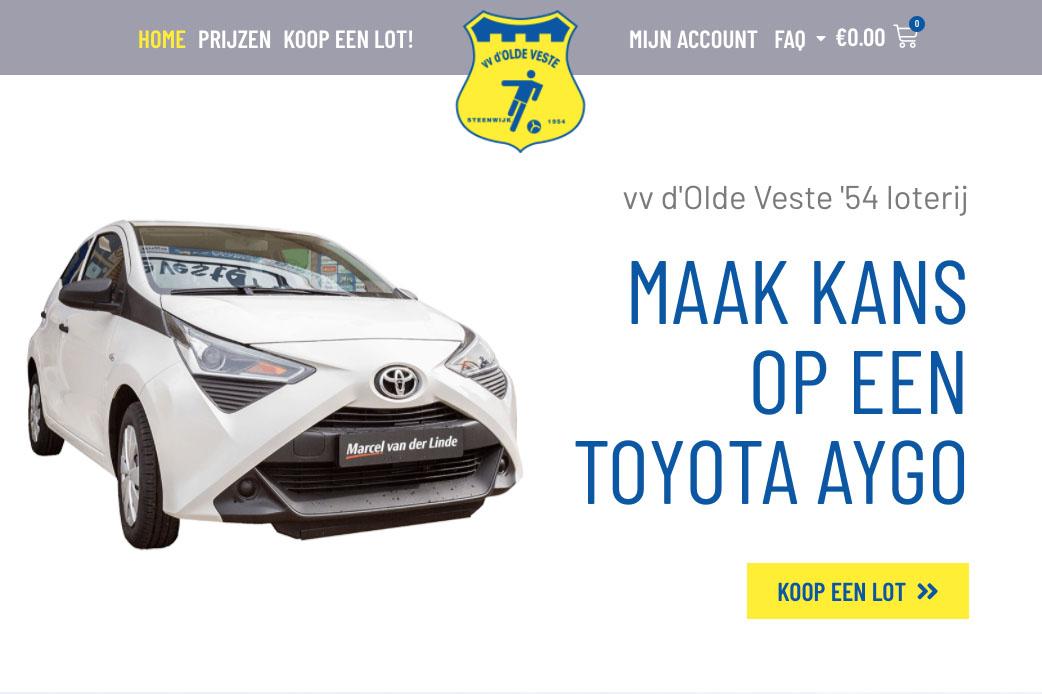 Olde Veste Loterij – Win een Toyota Aygo!