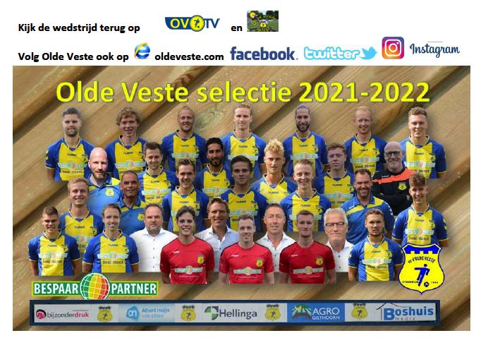 Programma 16 Oktober 2021  vv d'Olde Veste '54 - Pelikaan-S