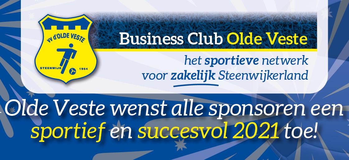 Olde Veste wenst alle sponsoren een sportief en succesvol 2021 toe!