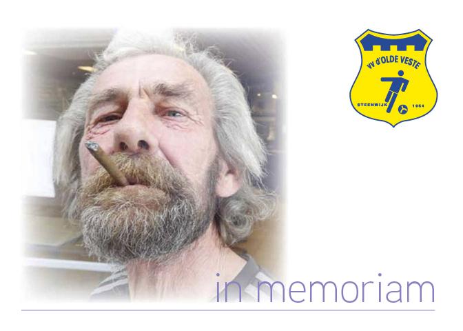 In memoriam Bennie Weijdema